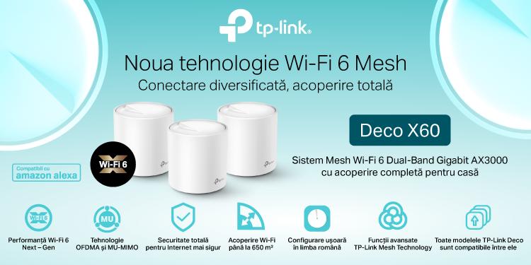 TP-Link® lansează în România primul său sistem Whole Home Mesh Dual-Band Gigabit AX3000 cu Wi-Fi 6