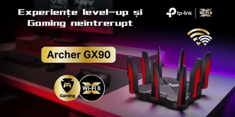 Gamerii pasionați au acum un nou aliat. TP-Link a lansat în România noul router de gaming Archer GX90 compatibil cu standardul Wi-Fi 6