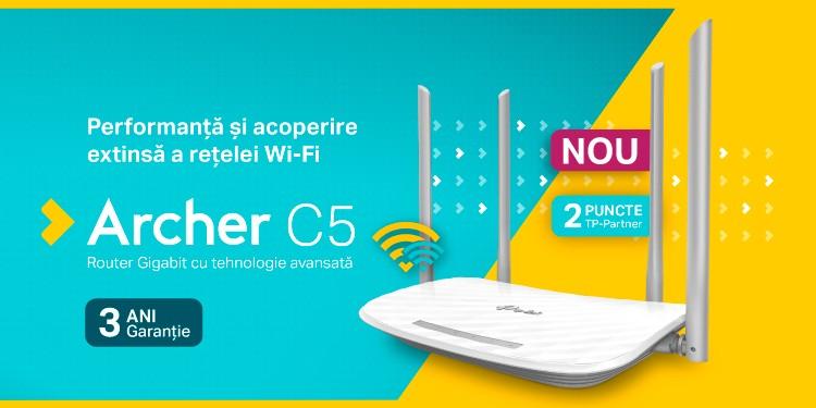 TP-Link a lansat Archer C5 - o nouă generație de router de cursă lungă, performer la gaming