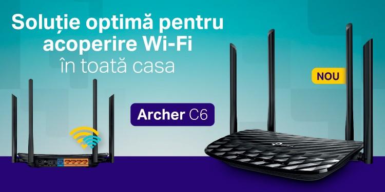 Archer C6 - Gigabit MU-MIMO AC1200, noul router TP-Link dedicat conexiunilor stabile în rețea