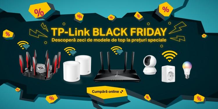 TP-Link a pregătit pentru Black Friday zeci de modele de top la prețuri speciale și stocuri de 120.000 de unități