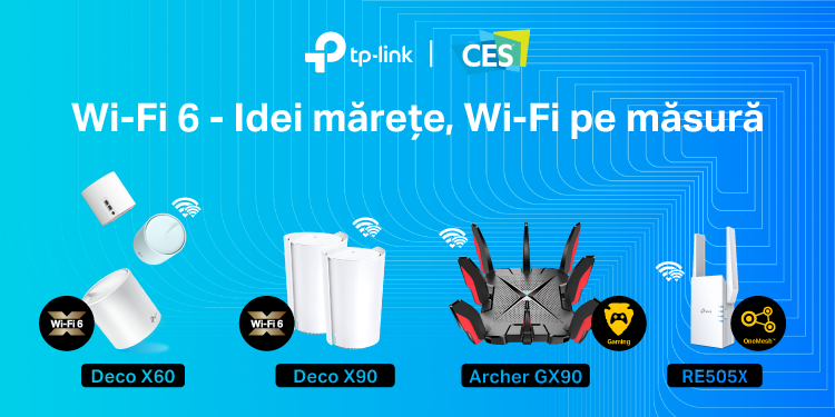 TP-Link lansează la CES 2020 o nouă familie Deco Mesh cu opțiuni Wi-Fi 6, noi routere tri-band compatibile Wi-Fi 6 și extinde parteneriatul cu Avira prin soluția HomeCare Pro