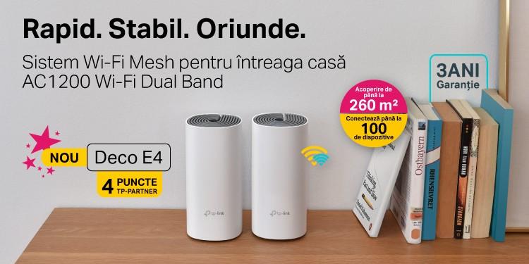 Deco E4 - Sistem Wi-Fi Mesh pentru întreaga casă AC1200