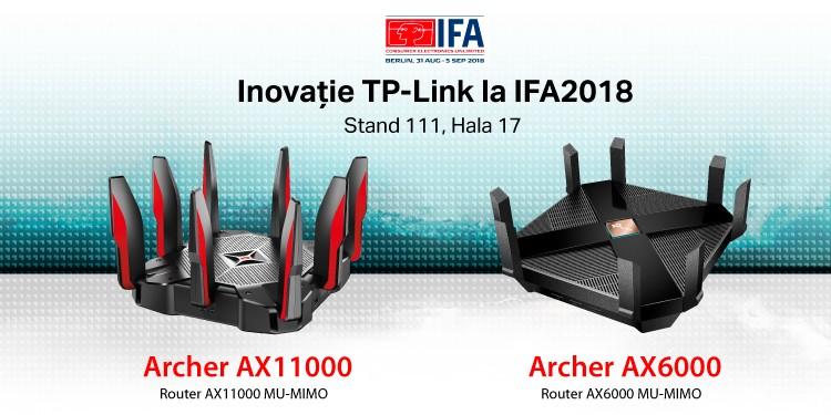 TP-Link® ANUNȚĂ SERIA DE ROUTERE 802.11AX  ARCHER AX6000 ȘI ARCHER AX11000 – un pas în viitor