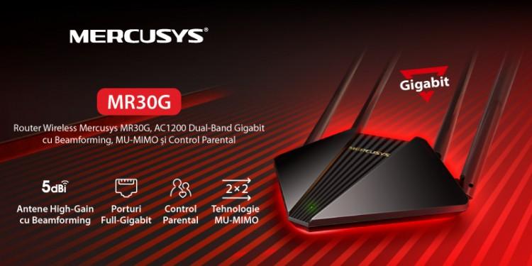 Mercusys® lansează în România routerul MR30G AC1200 Dual-Band Gigabit, pentru conexiuni puternice și stabile, la un preț accesibil