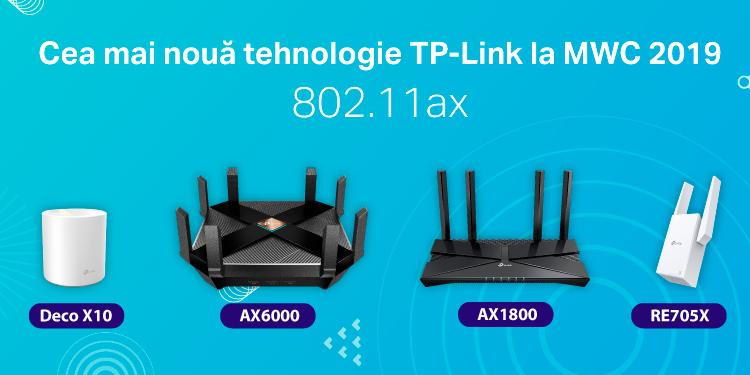 TP-Link prezintă seria de produse cu tehnologie AX la MWC 2019