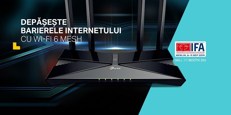 TP-Link lansează la IFA 2019 noi produse din gama Whole Home Mesh și completează seria dispozitivelor pentru noul 802.11ax (Wi-Fi 6) Wireless Standard