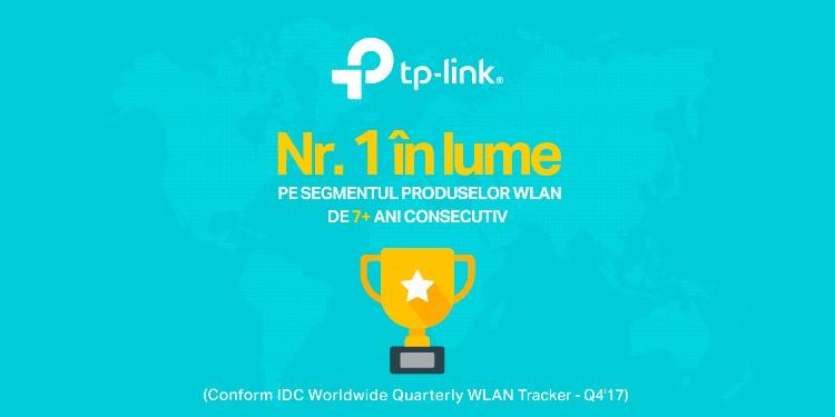TP-Link® se menține de 7 ani consecutiv lider pe piața globală de echipamente Wi-Fi