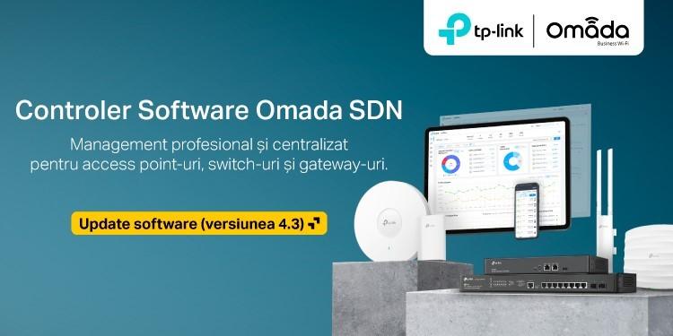 TP-Link a lansat oficial update-ul software (versiunea 4.3.5) pentru Controllerul Omada SDN, care le oferă business-urilor opțiuni avansate pentru gestionarea rețelei